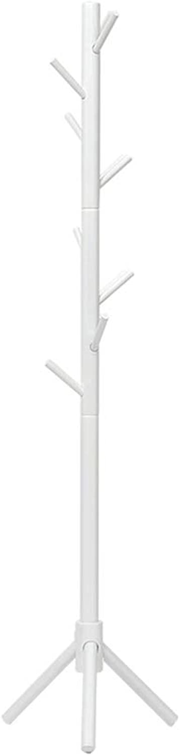 HAKN Coat Stand, Tripod Coat Rack, Beech,Stable and Not Easy to Dump, Hat Storage,Large Storage Space, Large Load-Bearing, 3 colors for Garage Foyer Office Closet (color   White)