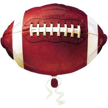 Folienballon american football anagram ca. 50x39cm