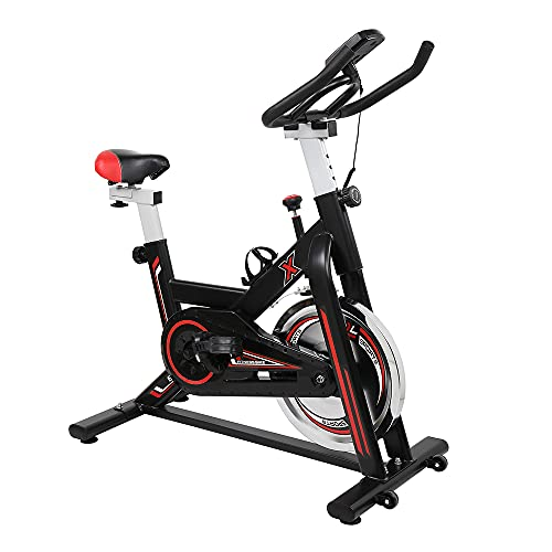 Bicicleta de ejercicio, bicicleta de centrifugado para interior, máquina de entrenamiento cardiovascular vertical con medidor electrónico para entrenamiento de gimnasios