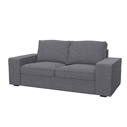 Soferia Funda de Repuesto para IKEA KIVIK sofá de 2 plazas, Tela Naturel Grey, Gris