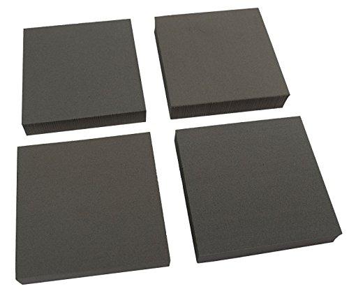 Xcel Heavy Duty Equipo de ratón Anti vibración, no del resbalón Cojines de Muebles, 4' x 4' x 3/4' de Espesor (Juego de 4)