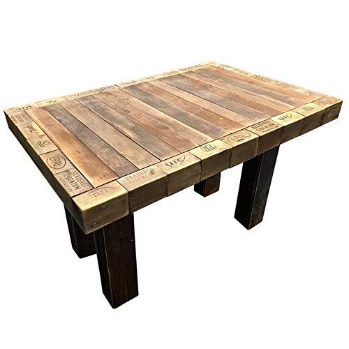 Palettenmöbel: Tisch aus Paletten, Paletten Esstisch, Gartentisch Bahia, Neuholz in klassischer Paletten Optik, jedes Teil ist einzigartig und Wird in Deutschland in Handarbeit gefertigt