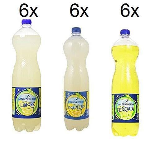 Testpaket San benedetto Limonata-Pompelmo-Cedrata ( 18 x 1,5 Lt ) erfrischend
