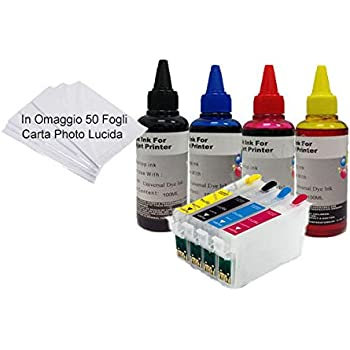 CISS RICARICABILI Ricarica Inchiostro Bottiglia per Epson SX535WD SX620FW WF-7015 7515