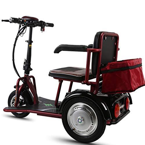 asfaw Vespa de triciclo eléctrico de ocio para personas mayores, plegable, coche eléctrico para discapacitados, portátil de tres ruedas (color: 35 km)
