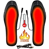 CJTDDAN Heated Insoles, USB Heated Shoes Outdoor Sports Feet Warmer for Men and Women Winter Hunting Ski Fishing Hiking Electric Heated Foot Warmer Insole (Size 6.5-9.5/41-45)