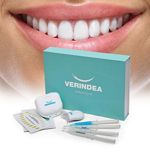 Verindea-Zahnweißungs-Kit | Zahnaufhellung und Zahnpflege von zu Hause | Professionelles Zahn-Bleaching |Entfernt tiefe und oberflächliche Flecken und Verschmutzungen sicher und zuverlässig