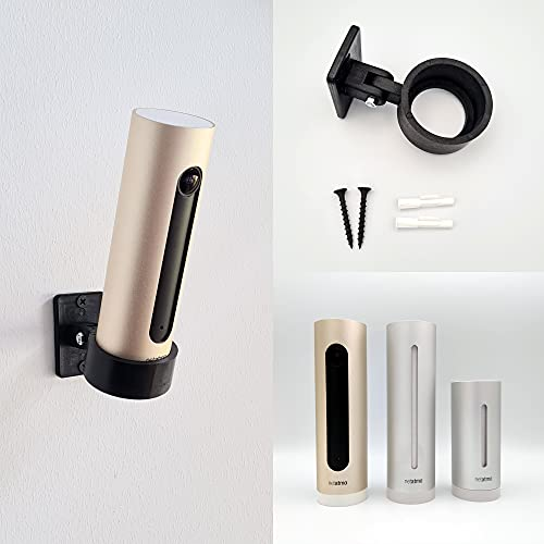 Soporte de pared compatible con Netatmo Welcome – Impresión 3D profesional – Soporte de pared para alarma inteligente y cámara de vigilancia – Soporte de pared ajustable e inclinable