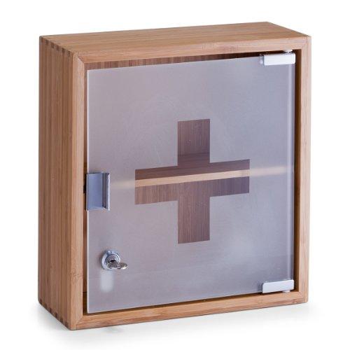 Zeller 13594 Medizinschrank, Bamboo/Glas
