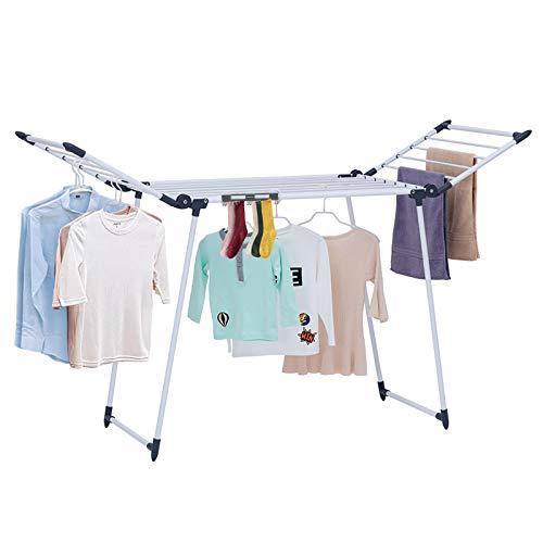 YUBELLES Gullwing - Tendedero Multiusos, Color Gris Oscuro, Resistente al óxido, Plegable, Estable y Duradero