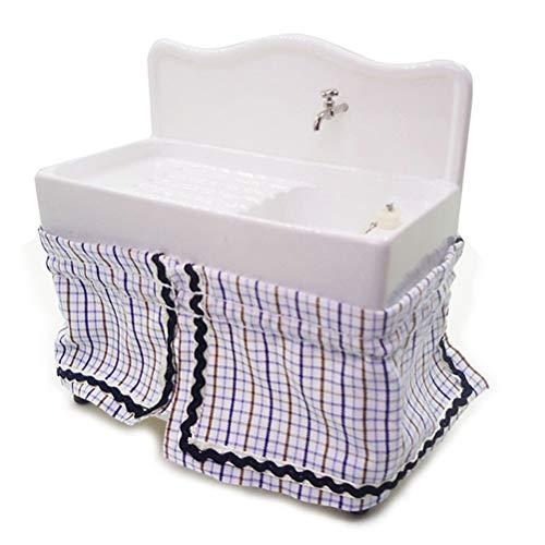 Macabolo 1:12 poppenhuis miniatuur badkamer zilver waterkraan mixer waterkraan badkuip wastafel water wastafel voor poppenhuis decoratie