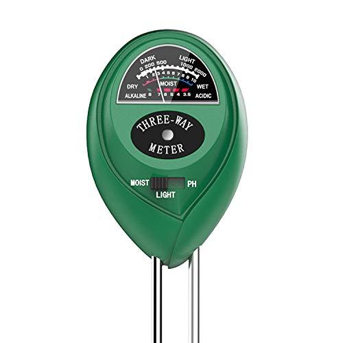 Dr.meter Soil Moisture Meter, Sunlight PH Acidity 3-in-1 Soil Tester Kit for Garden Farm Lawn Planter (No Battery Needed) (VD-1)