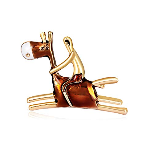 N/W Brooches For Women Ladies Cartoon Character Brooch Personality Donkey Animal Gift Jewellery Brooch Pins