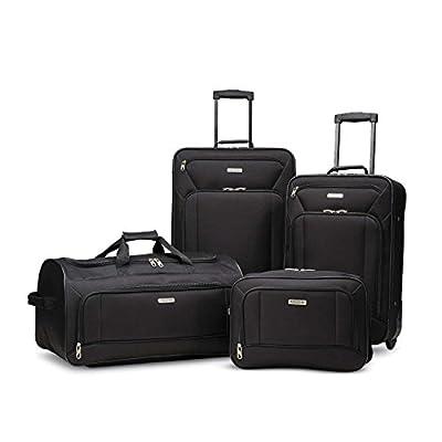American Tourister Fieldbrook XLT Softside Luggage, Black, 4-Piece Set
