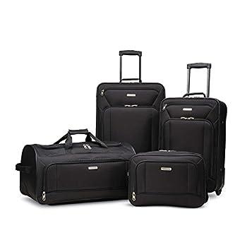 American Tourister Fieldbrook XLT Softside Upright Luggage Black 4-Piece Set  BB/DF/21/25