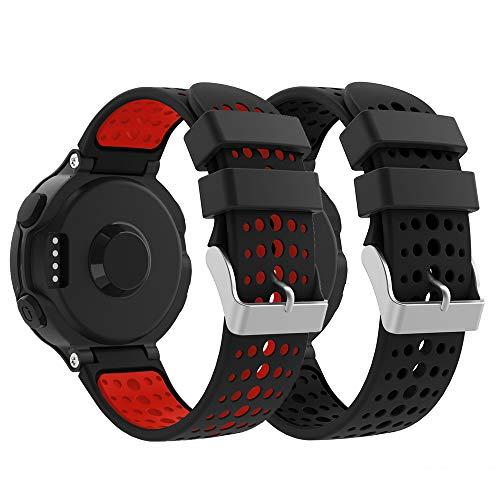YPSNH Compatible para Correa Forerunner 235 Reemplazo Suave Silicona Deportiva Accessorios de Reloj Pulsera Ajustable para Forerunner 235/220/230/620/630/735 Smart Watch