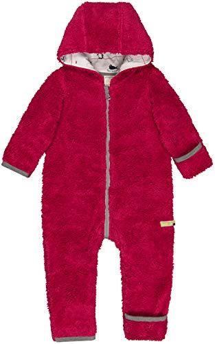 loud + proud Baby-Unisex Overall Plüsch Aus Bio Baumwolle, GOTS Zertifiziert Schneeanzug, Rosa (Berry Ber), 80 (Herstellergröße: 74/80)