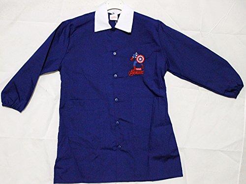 GREMBIULE Scuola Elementare, blu - DISNEY AVENGERS - CAPITAN AMERICA - Colore Blu Taglia Grembiule 80 - Altezza 134 cm - 9 anni