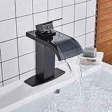 Zhttcd Waschtischmischer Schwarz Bronze Mit Glaswaschbecken Wasserhahn Badarmaturen Einhand Bad Warm- Und Kaltwassermischer