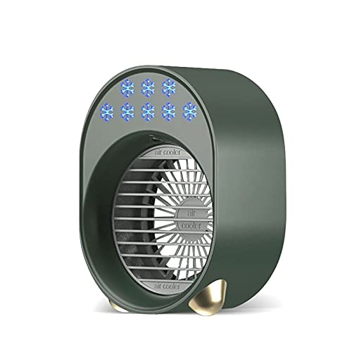 ZXQC Mini Air Conditioner Air Cooler Fan, USB Personal Fan, Air Cooling Refrigeration Fan (Color : Green)