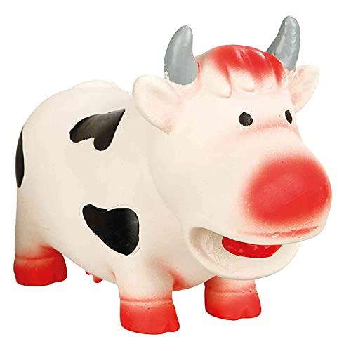 Trixie Jouet de Vache en Latex, 19 cm