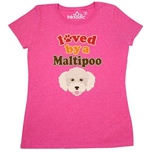 inktastic Maltipoo Dog Gift Poodle Women's T-Shirt Medium Retro Heather Pink