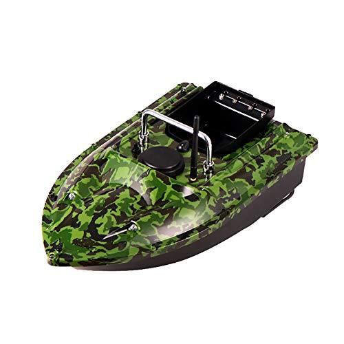 Smart RC Bait Boat Dual Fish Motor Barco Buscador de Barcos Barcos de Pesca de 500 M Herramienta de lancha rápida 1.5 kg Buscador de Peces de Carga, Verde Camuflaje