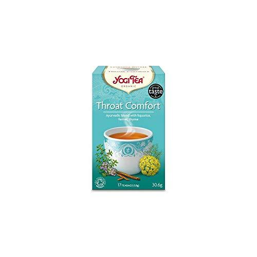 Yogi TEAS - AYURVEDIC Organic Ancient Herbal Formula Throat Comfort 17bags (Pack of 1)