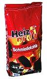25 kg Steinkohle Premium Schmiedekohle Ibbenbüren Heizprofi Union Kohle Briketts Nusskohle Fettnuss Gluthalter Eierkohle von Energie Kienbacher