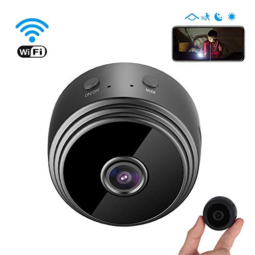 Mini Spy Cameras Hidden, 1080P Remote Wireless Hidden WiFi Security Camera, Small Wireless Home Security Concealed Miniature Indoor & Outdoor Video Recorders With Night Vision And Motion Detection