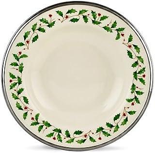 Lenox Holiday Platinum Ivory China Pasta Bowl/Rim Soup