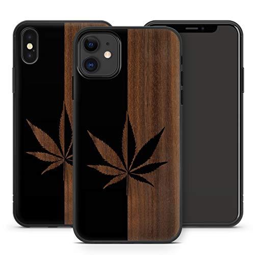 Handyhülle Weed für iPhone Apple Silikon MMM Berlin Hülle Gras Marihuana Cannabis Hanf, Kompatibel mit Handy:Apple iPhone 12, Hüllendesign:Design 2   Silikon Schwarz