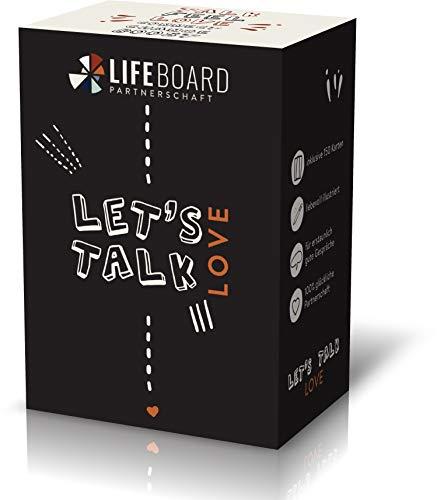 LIFEBOARD Let's Talk Love - Das besondere Paar-Spiel mit Gesprächskarten für eine glückliche Beziehung - Geschenk für Frauen und Männer Partnerschaft