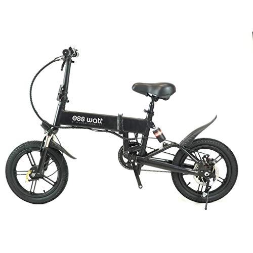ESS WATT ESMBIKES Bicicleta eléctrica, Adultos Unisex, Negr