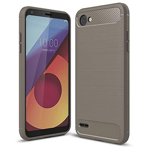 Handy-Hülle Grau für LG Q6 | Soft Bumper Hülle