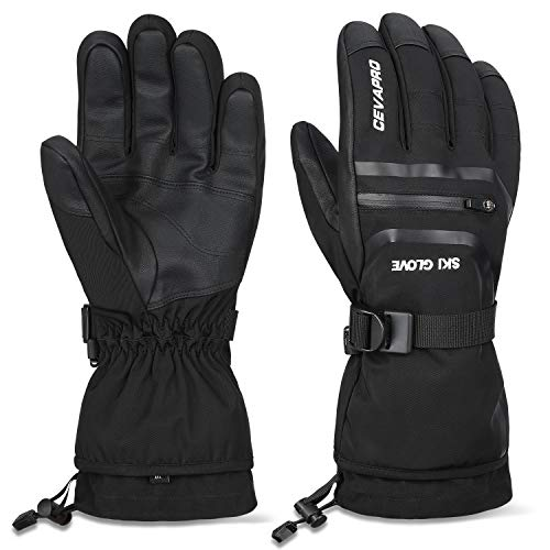 Cevapro -40℉ Waterproof Ski Gloves, Winter Gloves Men Women for Snowboarding