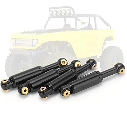 4-teiliger RC-Car-Stoßdämpfer, Leichter Öl-Stoßdämpfer-Dämpfer RC-Upgrade-Teile für Axiales SCX24 90081 1/24 RC-Raupenauto(schwarz)