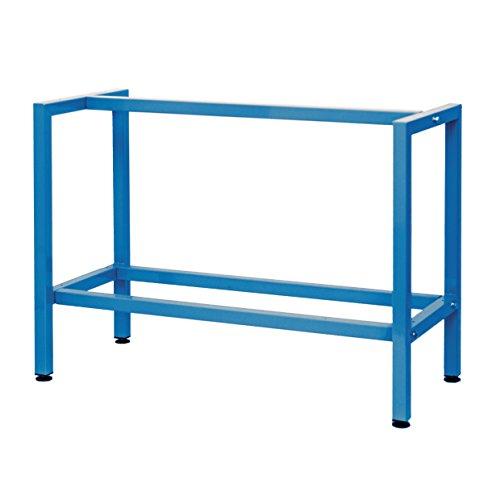 Werkbank werkplaats werktafel werktafel tafelonderstel paktafel 120 cm zonder plaat kleur: verkeersblauw