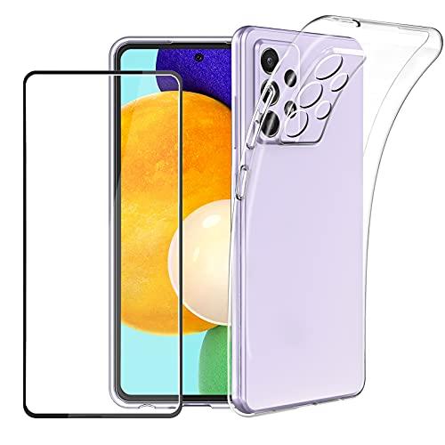 EasyAcc Durchsichtige Silikon Handy Hülle Kompatibel mit Samsung A52 Handyhülle Schutzhülle Cover Case