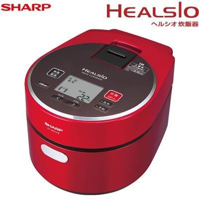 シャープ ヘルシオ(HEALSIO) IHジャー炊飯器(5.5合炊き) レッド系 KS-MX10B-Rの写真