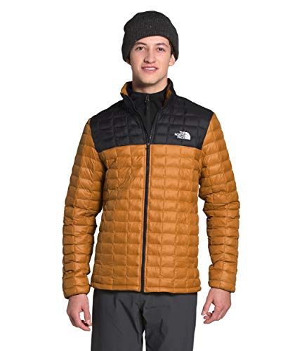 The North Face Men's Thermoball Eco Insulated Jacket - Fall or Winter Coat, Timber Tan Matte/TNF Black Matte, L