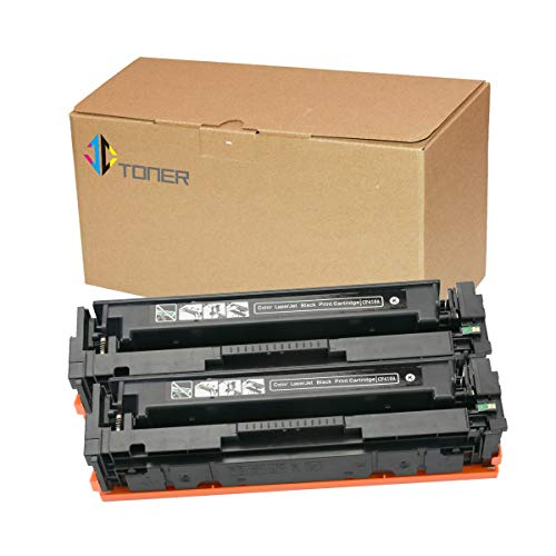 2 Pack Black CF410A 410A Compatible Toner Cartridges for use with Color Laserjet Pro MFP M477fdn M477fdw M477fnw M452dn M452nw M452dw M377dw Series Printer