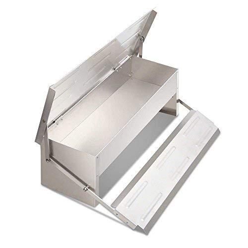 Ztopia Alimentador automático de aves de corral Alimentador de aluminio Autoapertura Alimentación Suministros de riego para pollos/patos/gallinas (alimentador automático de pollo)