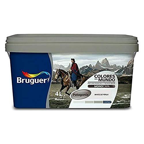 Bruguer Colores del Mundo Pintura para paredes monocapa Patagonia Matiz de Perla 4 L