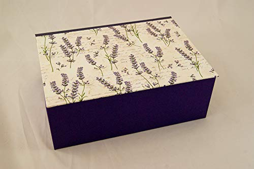Geschenkverpackung Lavendel Blumen, A5 Kästchen 23 x 17 x 8,5 cm, Schatulle