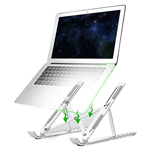 Laptop Stand, Retractable and Adjustable, Gray