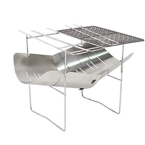 Camping Fire Pit Portable Stainless Steel, Foldable Barbecue Folding Grill For Patio, Camping, Barbecue, Backyard And Garden