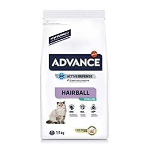 Advance Sterilized Hairball, comida para gatos esterilizados, para eliminar las bolas de pelo, 1.5Kg 9