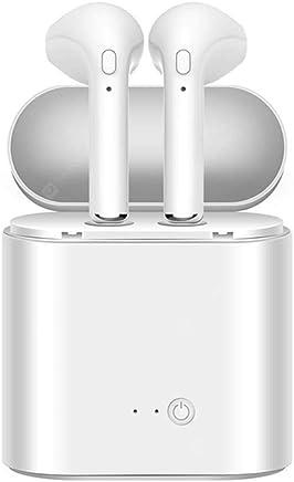 Auriculares Bluetooth Auriculares inalámbricos Auriculares Mini Bluetooth Auriculares estéreo Micrófono HD Incorporado, diseño en la Oreja con Estuche de Carga para iOS, Android