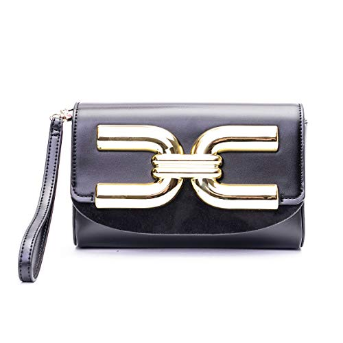 Elisabetta Franchi Luxury Fashion Donna BS57A02E2110 Nero Ecopelle Pochette | Primavera-estate 20